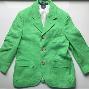 Polo Lime Green Linen Sport Coat